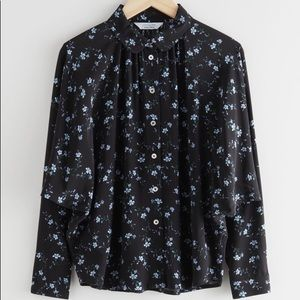 & Other Stories Bat Wing Oversized Floral Button down